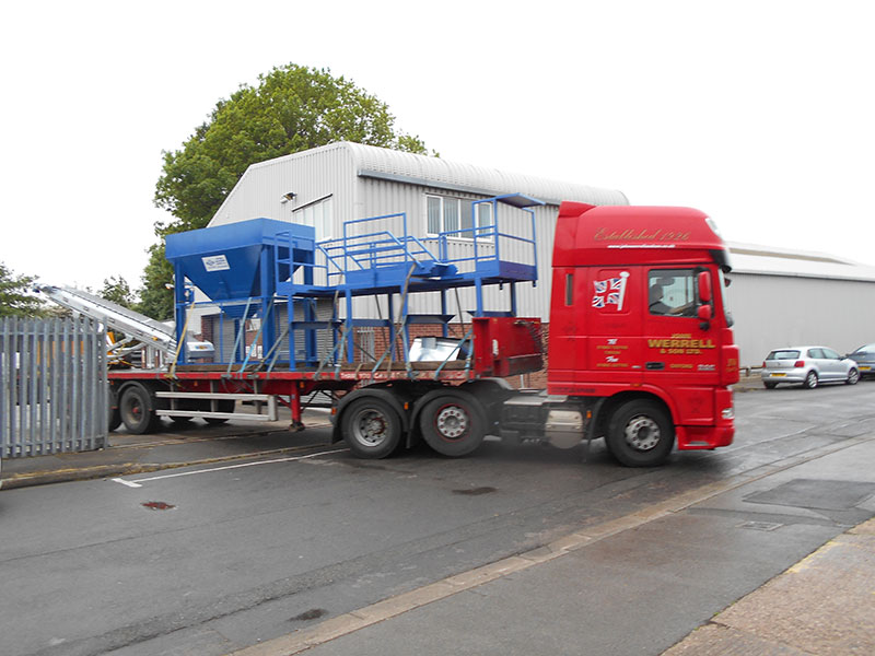 Truck Delivering Perveril Equipment